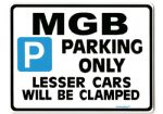 MGB Large Metal ParkingSign for roadster v8 gt
